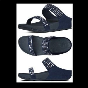 fit flop novy slide sandals navy 10
